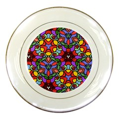 Bright Colors Porcelain Display Plate