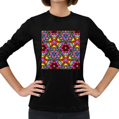 Bright Colors Women s Long Sleeve T-shirt (Dark Colored)