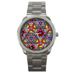 Bright Colors Sport Metal Watch