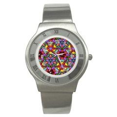 Bright Colors Stainless Steel Watch (Slim)