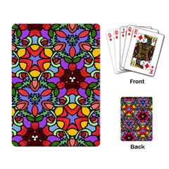 Bright Colors Playing Cards Single Design