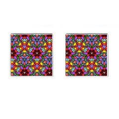 Bright Colors Cufflinks (Square)