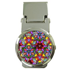 Bright Colors Money Clip with Watch