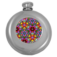 Bright Colors Hip Flask (Round)