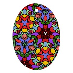 Bright Colors Oval Ornament (Two Sides)