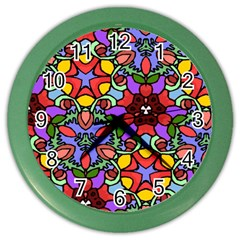 Bright Colors Wall Clock (color)