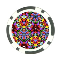 Bright Colors Poker Chip