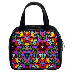 Bright Colors Classic Handbag (two Sides)