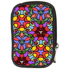 Bright Colors Compact Camera Leather Case