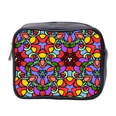 Bright Colors Mini Travel Toiletry Bag (Two Sides)