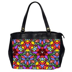 Bright Colors Oversize Office Handbag (two Sides)