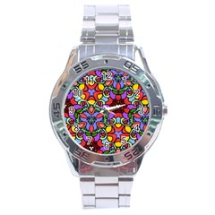 Bright Colors Stainless Steel Watch