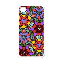 Bright Colors Apple Iphone 4 Case (white)