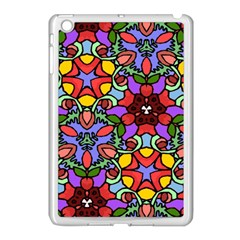 Bright Colors Apple iPad Mini Case (White)