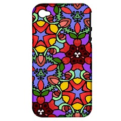 Bright Colors Apple Iphone 4/4s Hardshell Case (pc+silicone)