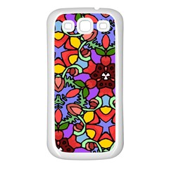 Bright Colors Samsung Galaxy S3 Back Case (white)