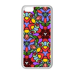 Bright Colors Apple iPhone 5C Seamless Case (White)
