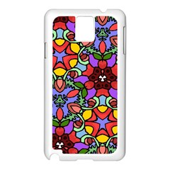 Bright Colors Samsung Galaxy Note 3 N9005 Case (White)