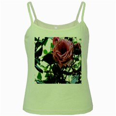 Rose Green Spaghetti Tank