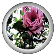 Rose Wall Clock (silver)