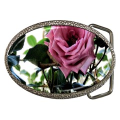 Rose Belt Buckle (Oval)