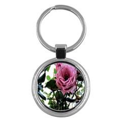 Rose Key Chain (Round)