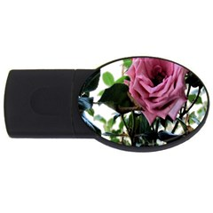 Rose 4GB USB Flash Drive (Oval)