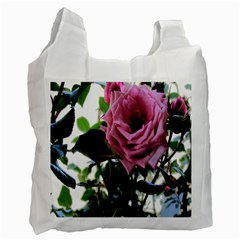 Rose White Reusable Bag (one Side)