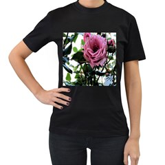 Rose Women s T-shirt (Black)