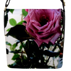 Rose Flap Closure Messenger Bag (Small)
