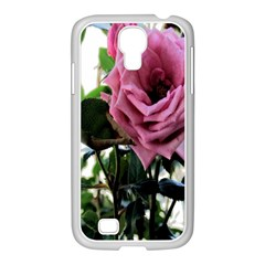 Rose Samsung GALAXY S4 I9500/ I9505 Case (White)