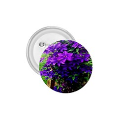 Purple Flowers 1.75  Button