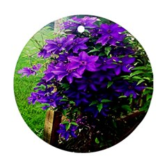 Purple Flowers Round Ornament