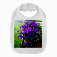Purple Flowers Bib