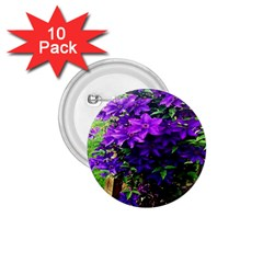 Purple Flowers 1.75  Button (10 pack)