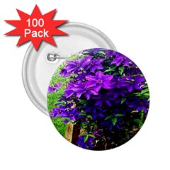 Purple Flowers 2.25  Button (100 pack)