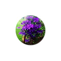 Purple Flowers Golf Ball Marker 10 Pack