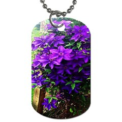 Purple Flowers Dog Tag (Two-sided)