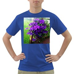 Purple Flowers Men s T-shirt (Colored)