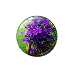 Purple Flowers Golf Ball Marker 4 Pack (for Hat Clip)