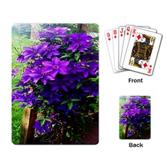 Purple Flowers Playing Cards Single Design