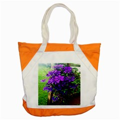 Purple Flowers Accent Tote Bag