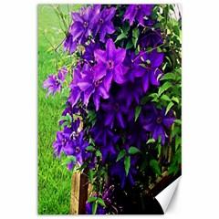 Purple Flowers Canvas 12  x 18  (Unframed)