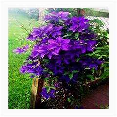 Purple Flowers Glasses Cloth (Medium)
