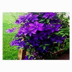 Purple Flowers Glasses Cloth (Large)
