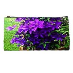 Purple Flowers Pencil Case