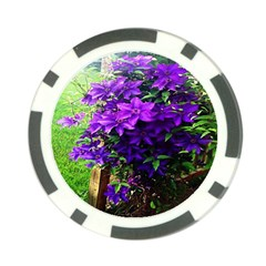 Purple Flowers Poker Chip (10 Pack)