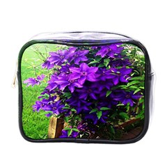 Purple Flowers Mini Travel Toiletry Bag (One Side)