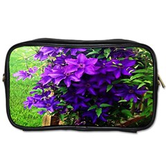Purple Flowers Travel Toiletry Bag (Two Sides)
