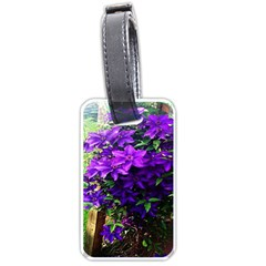 Purple Flowers Luggage Tag (One Side)